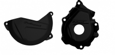 New KTM SXF 250 350 16 17 18 Clutch Ignition Cover Protector Combo Black